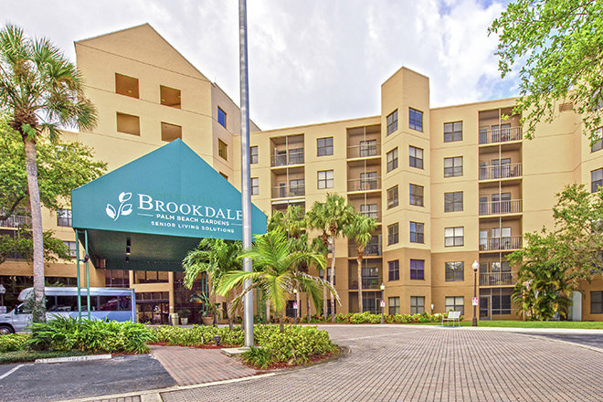 Brookdale Palm Beach Gardens Entrance