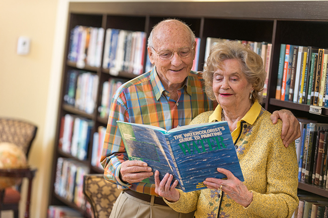 Brookdale Palm Beach Gardens Sharing a Book