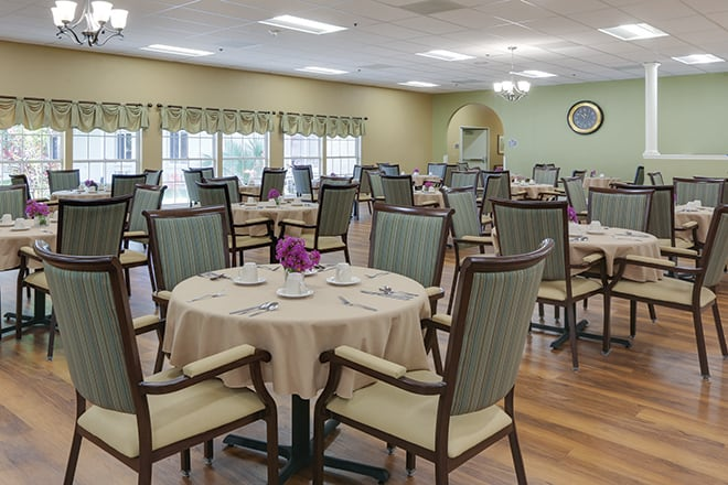 Brookdale Palma Sola Dining Room
