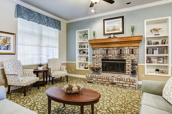 Brookdale Panama City Community Living Room
