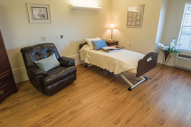 Brookdale Patriot Heights Skilled Nursing Bedroom