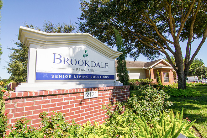 Brookdale Pearland Entrance