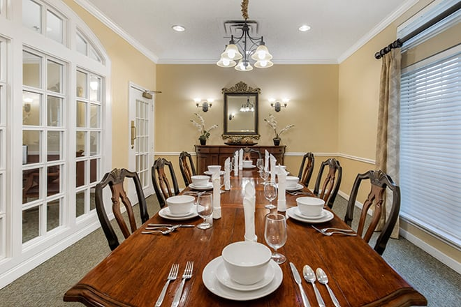 Brookdale Preston Private Dining Room