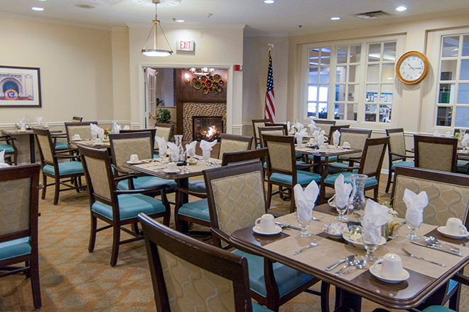 Brookdale Prospect Heights  Assisted Living Dining Room