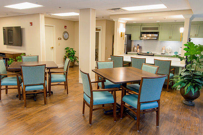 Brookdale Prospect Heights  Assisted Living Activity Room