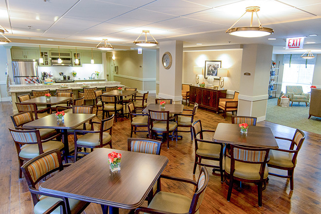 Brookdale Prospect Heights  Memory Care Dining Room