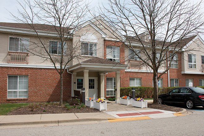 Brookdale Prospect Heights Skilled Nursing Entrance