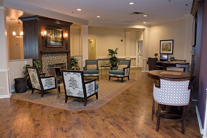 Brookdale Prospect Heights Skilled Nursing Living Room