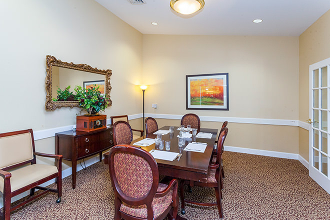 Brookdale Red Bluff Private Dining Room