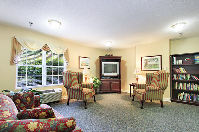 Brookdale Reidsville Community Living Room