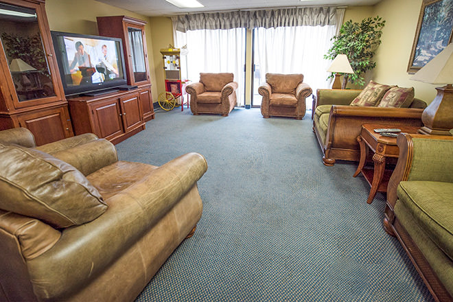 Brookdale Renton Community Living Room