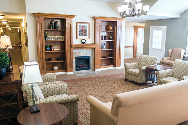 Brookdale Richland Hills Community Living Room