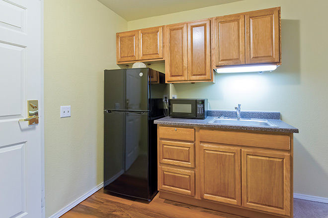 Brookdale River Road Apartment Kitchen