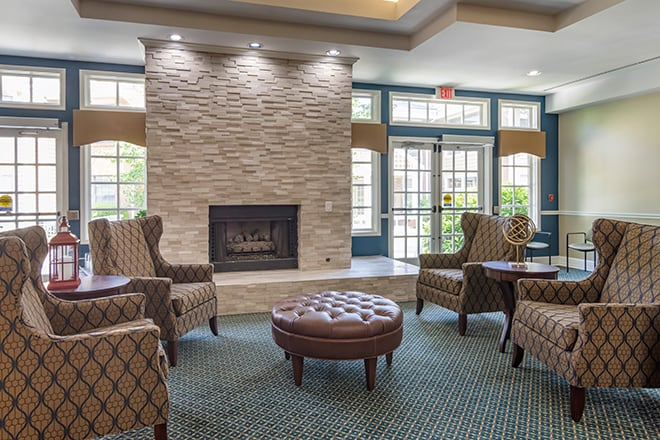 Brookdale Chambrel Roswell Community Living Room