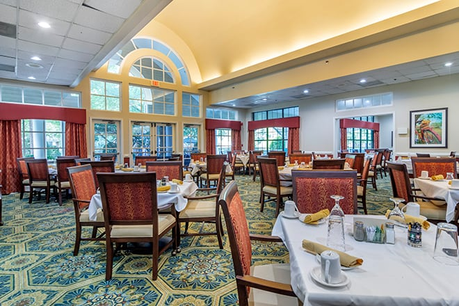 Brookdale Chambrel Roswell Dining Room