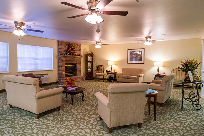 Brookdale Russellville Community Living Room
