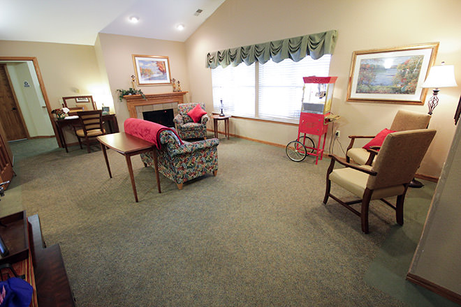 Brookdale Saginaw Community Living Room