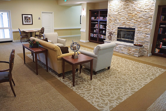Brookdale Salinas Community Living Room