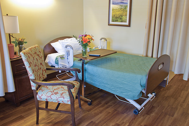 Brookdale San Dimas  Skilled Nursing Bedroom