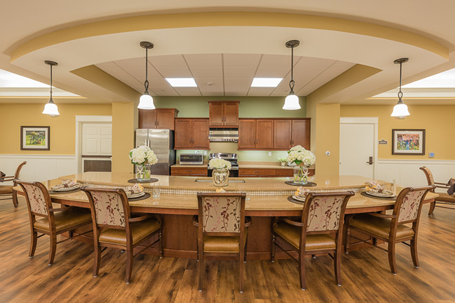 Brookdale Sandy Springs Memory Care Dining Room
