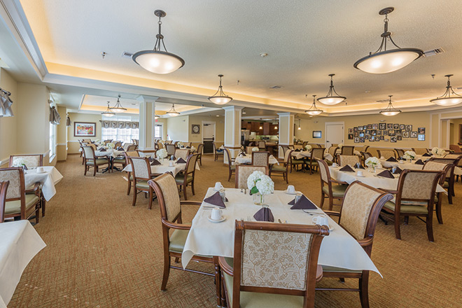 Brookdale Sandy Springs Assisted Living Dining Room