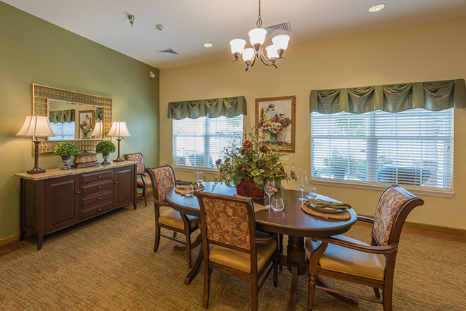 Brookdale Sandy Springs Assisted Living Private Dining Room