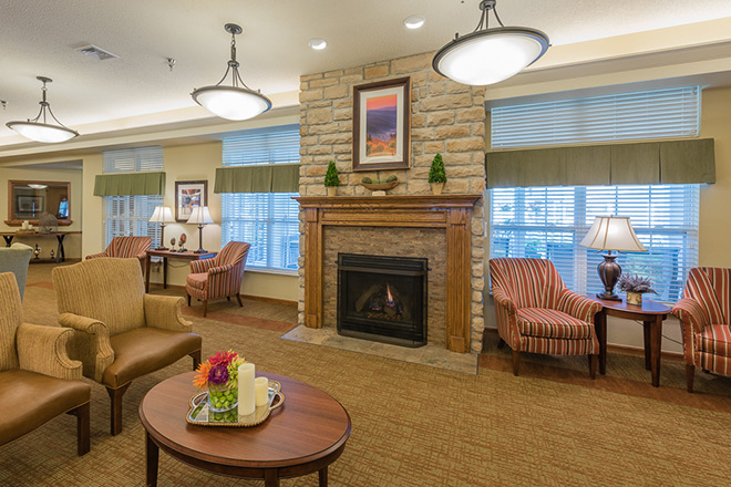 Brookdale Sandy Springs Community Living Room