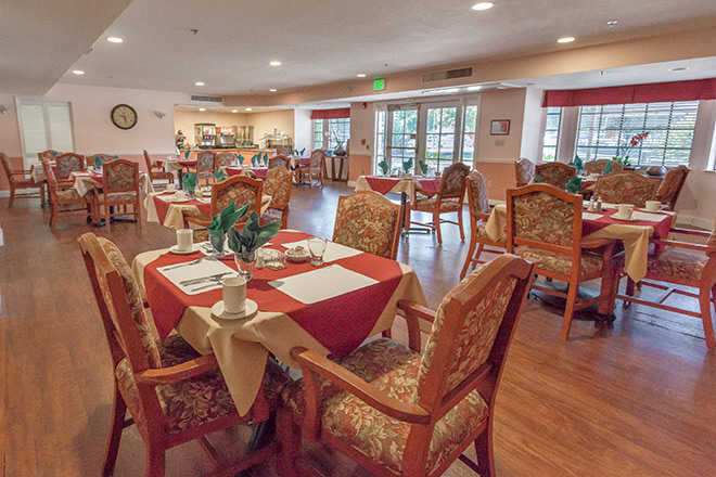 Brookdale Scotts Valley  Dining Room
