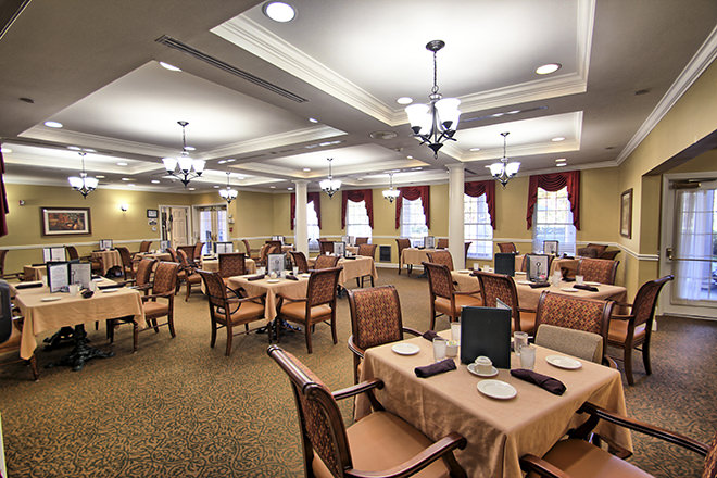 Brookdale South Charlotte Dining Room