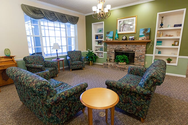 Brookdale Tequesta Community Living Room