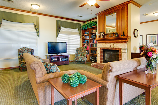Brookdale Texarkana Community Living Room
