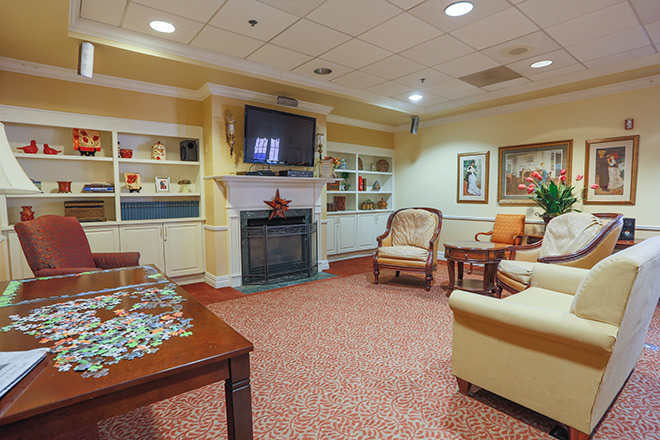 Brookdale Towson Community Living Room
