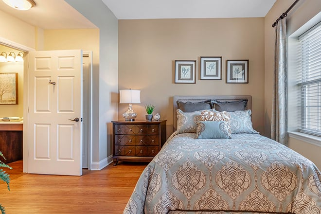 Brookdale University Park Assisted Living Apartment Bedroom