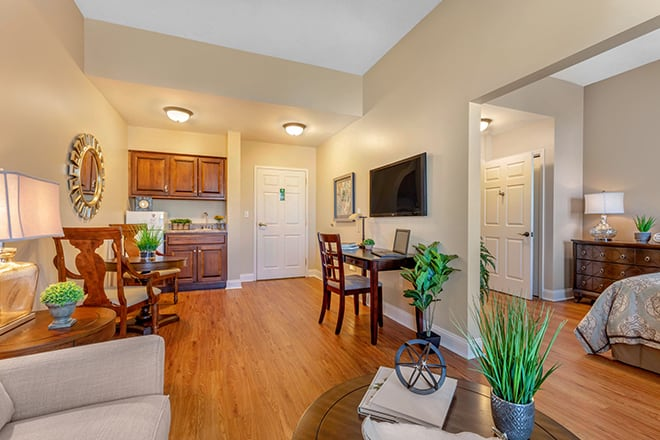 Brookdale University Park Assisted Living Apartment Living Room