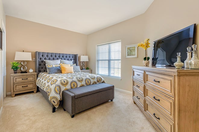 Brookdale University Park Independent Living Apartment Bedroom
