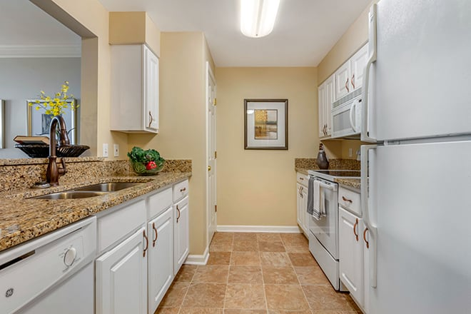 Brookdale University Park Independent Living Apartment Kitchen