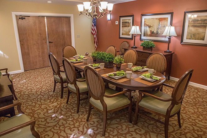 Brookdale Uptown Whittier Private Dining Room