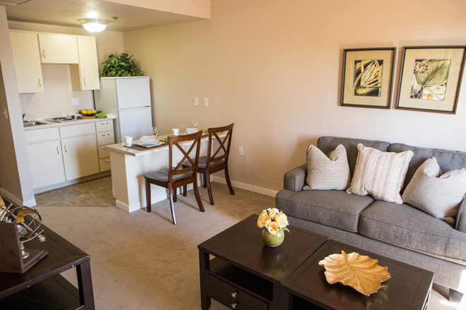 Brookdale Uptown Whittier Living Area