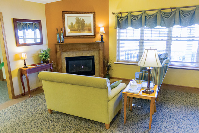 Brookdale Willmar Community Living Room