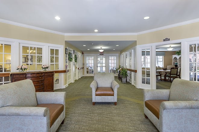 Brookdale Wilmington Community Living Room