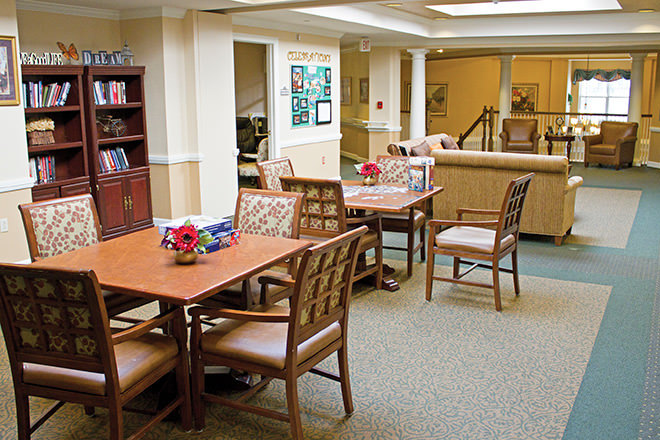 Brookdale Wilton Activity Room