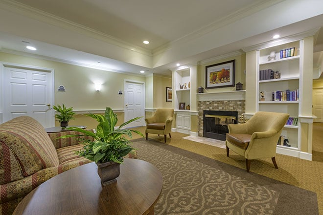 Brookdale Wooster Community Living Room