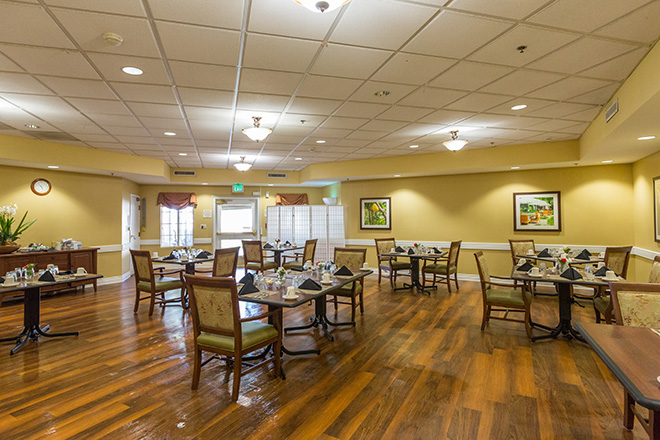 Brookdale Yorba Linda Skilled Nursing Dining Room
