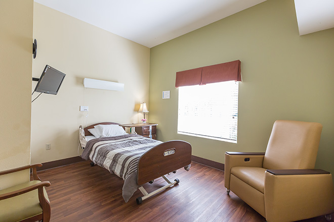 Brookdale Yorba Linda Skilled Nursing Bedroom