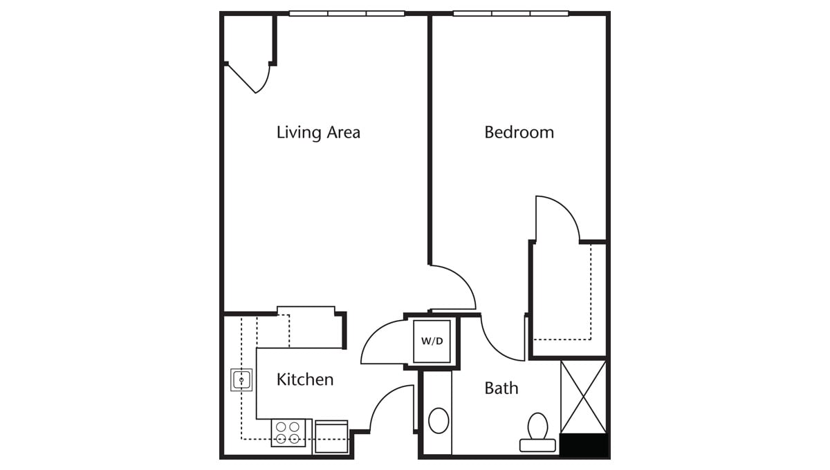 Freedom Pointe at The Villages Floor Plan One Bedroom One Bath B