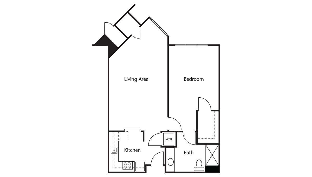 Freedom Pointe at The Villages Floor Plan One Bedroom One Bath C