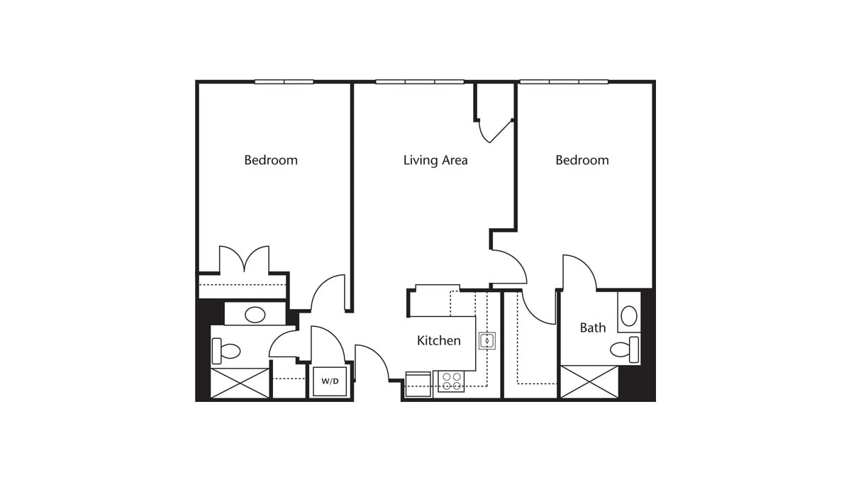 Freedom Pointe at The Villages Floor Plan Two Bedroom Two Bath E