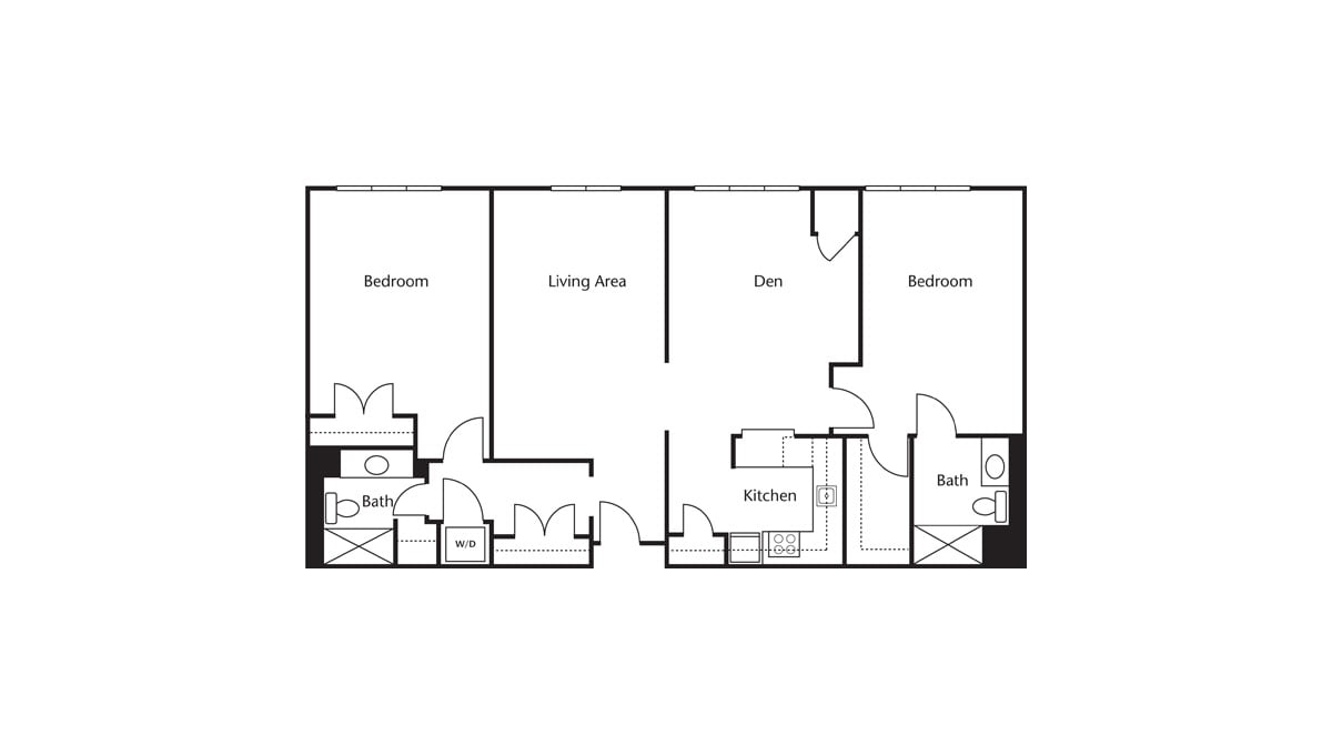 Freedom Pointe at The Villages Floor Plan Two Bedroom Den Two Bath F
