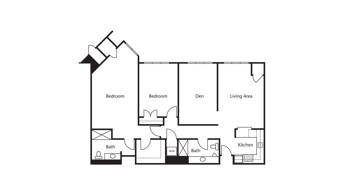 Freedom Pointe at The Villages Floor Plan Two Bedroom Den Two Bath H