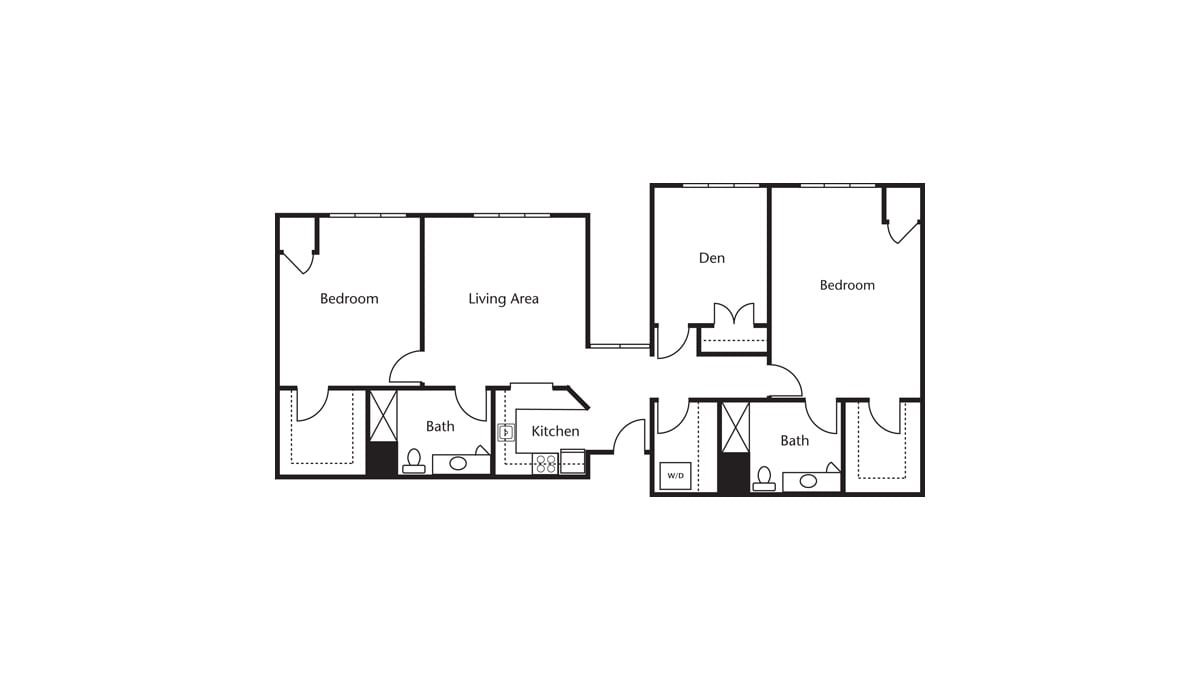 Freedom Pointe at The Villages Floor Plan Two Bedroom Den Two Bath I
